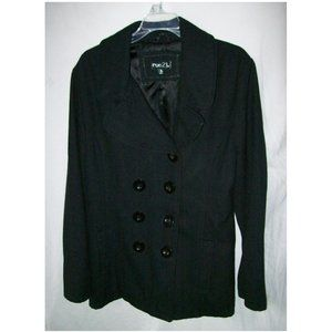 Rue 21 Black Wool Blend Pea Coat - Size XL